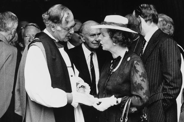 Archbishop of Canterbury Robert Runcie and Prime Minister Margaret Thatcher