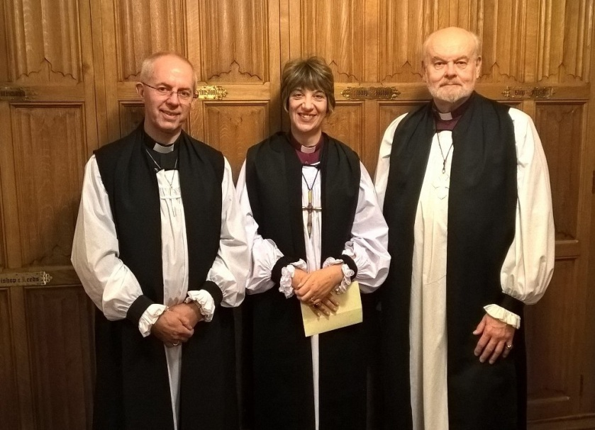 Bishop of Gloucester with Archbishop and Bishop of London
