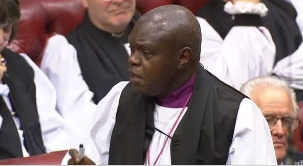Archbishop of York responds to question from UKIP Peer on